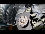 Mitsubishi Pajero (Митсубиси Паджеро) замена шпильки переднего колеса
