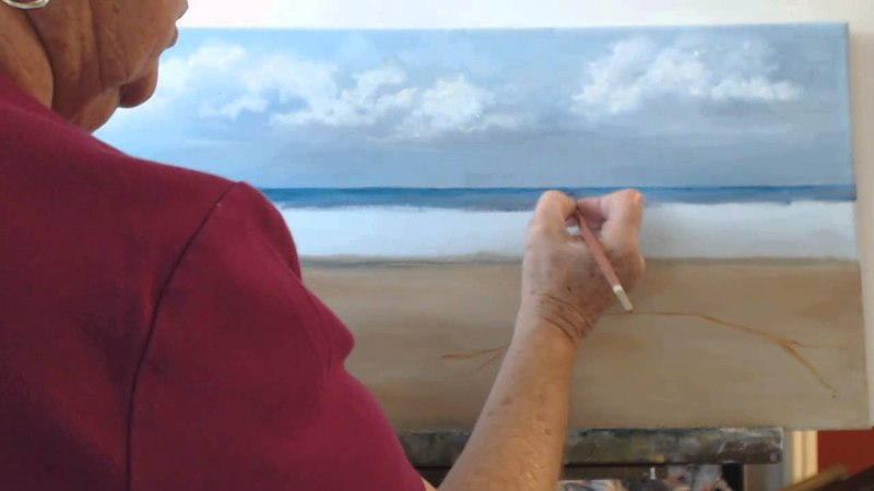 How to paint a beach scene in oils. Session 3