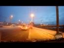 Момент аварии на мосту возле «Арены-Омск» (09.01.2018)