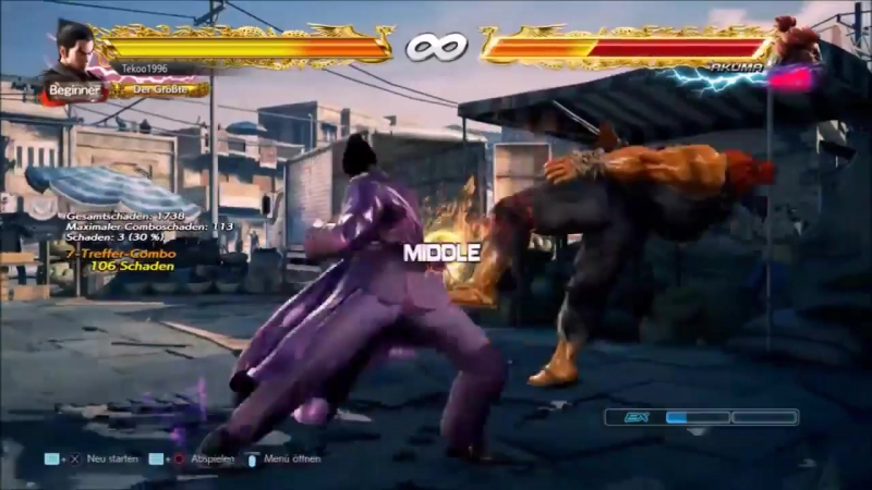 Tekken 7 - Кадзуя CH Df2 PEWGF Комбо