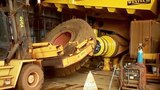 Changing a Blown Out Rear Tire Komatsu CAT BelAZ VOLVO Mining Truck Dumper