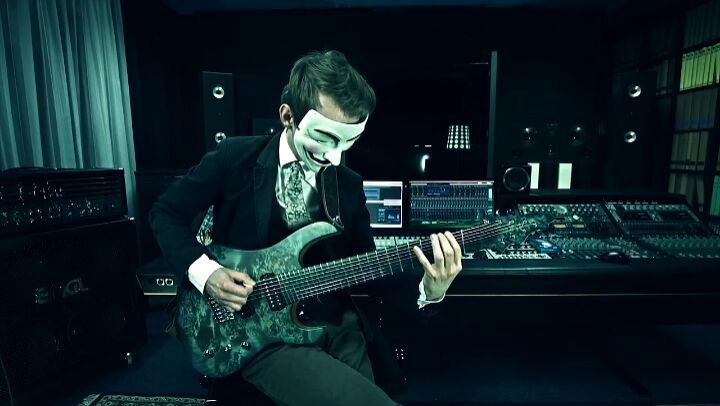 """Art against agony on Instagram: """"the_sorcerer teamed up with @adworks_hn the other day to shoot a promotion video for the @siggibraunguitars 'Griff..."""