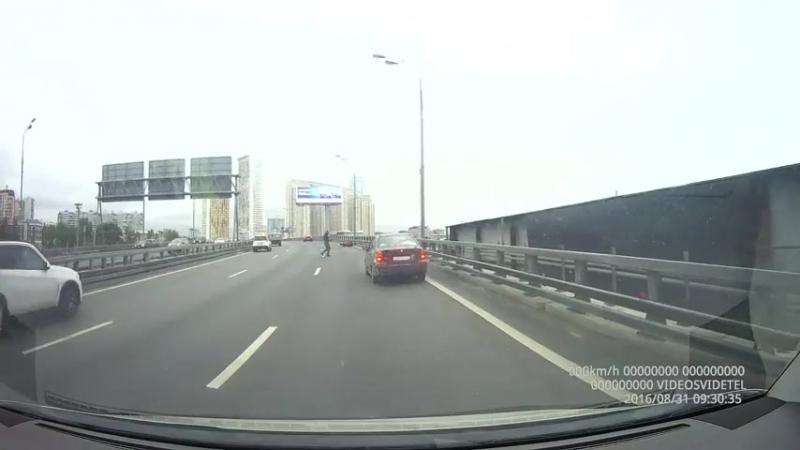 Подбитый мотоциклист