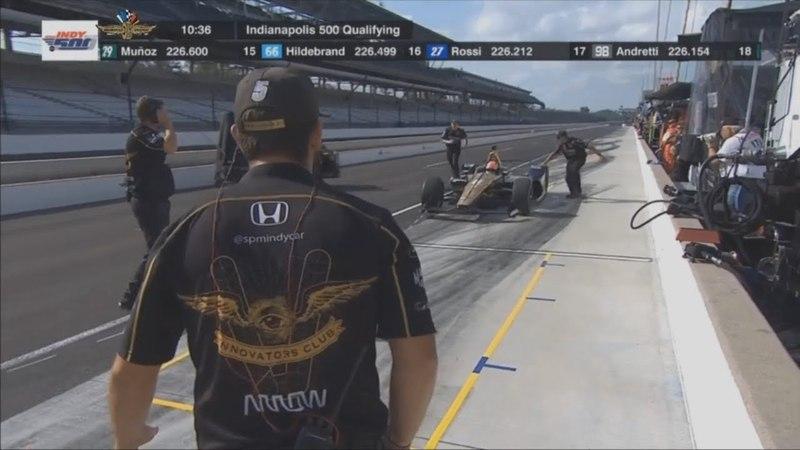 IndyCar Series 2018. Q1 Indy 500. James Hinchcliffe DNQ