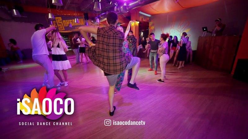 Samuel Funflow and Olga Saprunova Timba Dancing in Respublica Vosmera, Saturday 28.04.2018