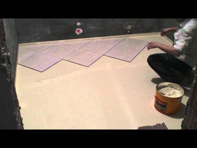 Laying ceramic tile on the floor. Clay Sikabond-T8 (Part 1)