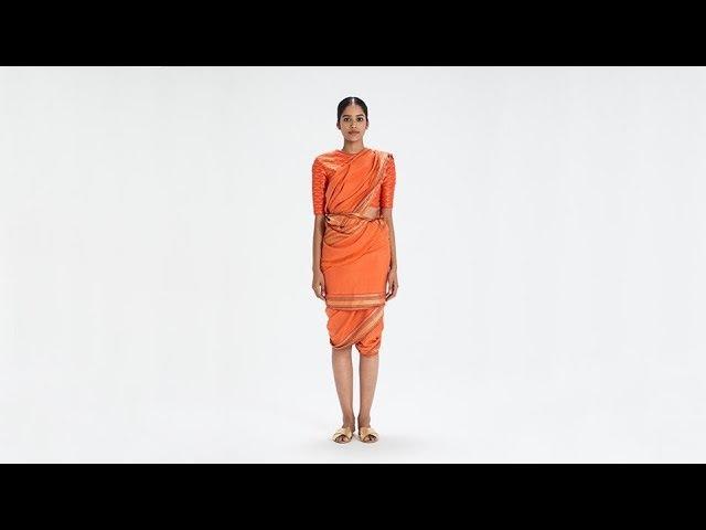 How To Drape a Sari: No. 56 Thakkar Drape - Maharashtra, India