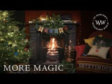 Christmas Holiday Yule Log Fireplace 4K J.K. Rowling's Wizarding World