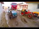 MAN TGX stuck in mud/2 mini tractors 4x4 pulling a truck/FORZA PASQUALI