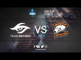 ESL One Genting, 2018. Игра 2, Team Secret vs Virtus Pro