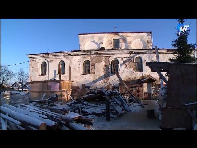 В Великом Новгороде восстанавливают храм Ильи Пророка на Славне