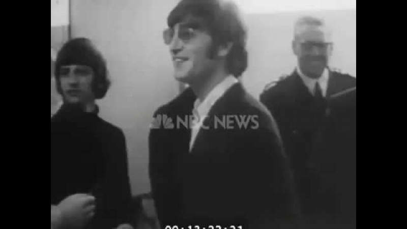 The Beatles NBC News Interview at London Airport August 10, 1966