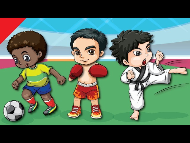 Learn Sports Names for Kids   Video Flash Cards   Kindergarten, Preschool ESL   Fun Kids English