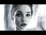 Gorgeous Young Girl Charcoal Portrait