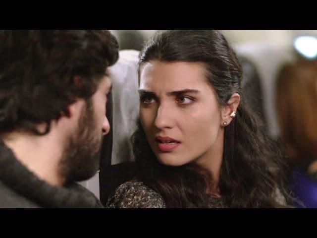 Kara Para Aşk 3 Bölüm İlk Sahne Elif Ömer'le uçakta burun buruna