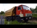 Русски самосвал КамАЗ 5511 Russian truck KAMAZ 5511 in action