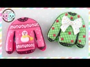 CHRISTMAS SWEATER MACARONS, CHRISTMAS SWEATER COOKIES - SUGARCODER