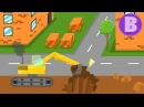 Желтый Экскаватор Мультфильм для мальчиков Изучаем технику с Сан Санычем