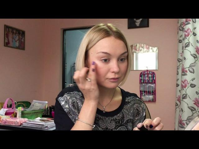 Нежный простой макияж в розово-коричнево-персиковых тонах / освежающий дневной макияж