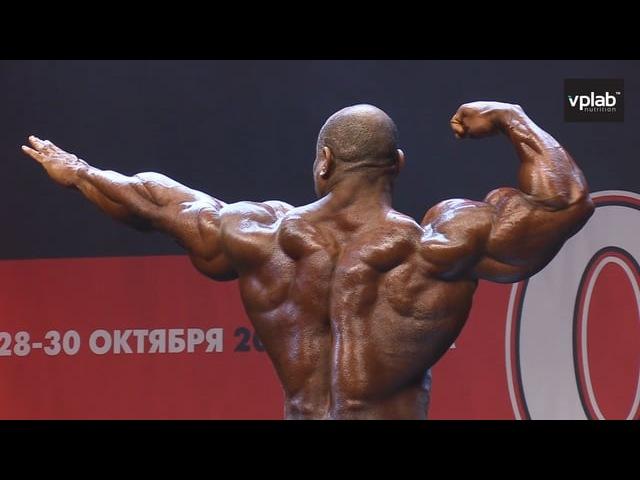 Online-трансляция: Показательное выступление Декстера Джексена на конкурсе Mr Olympia