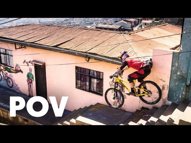 Tomáš Slavik's intense winning run at Red Bull Valparaíso Cerro Abajo 2018 Urban MTB