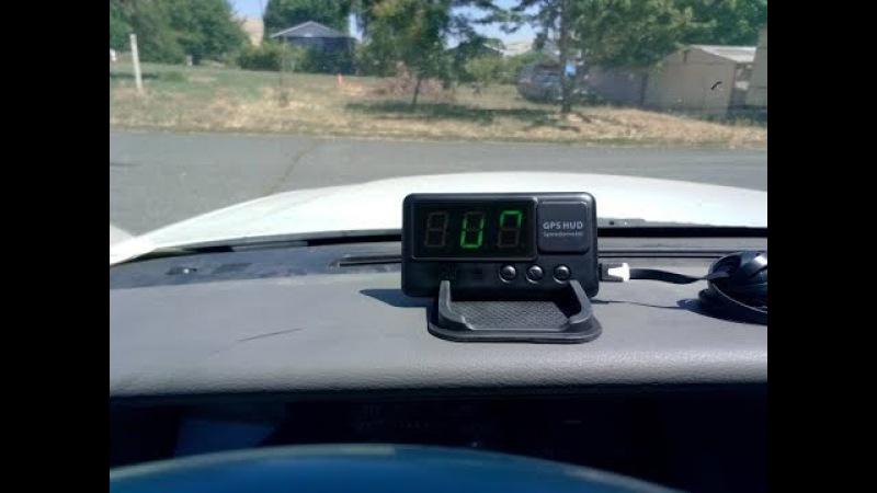 VJOYCAR C60 Universal GPS HUD Head UP Display Speedometer Trip Mileage From Satellites Windshield Pr