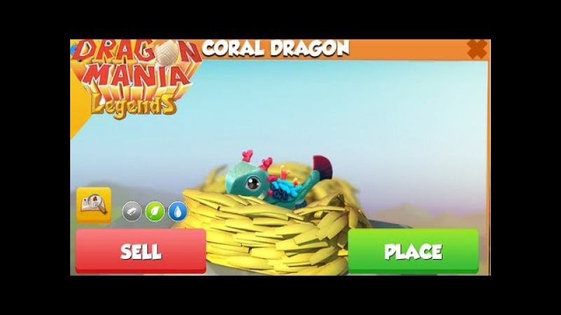Hatching Coral dragon - do you get it ? , Gameplay , Dragon Mania Legends -part 639