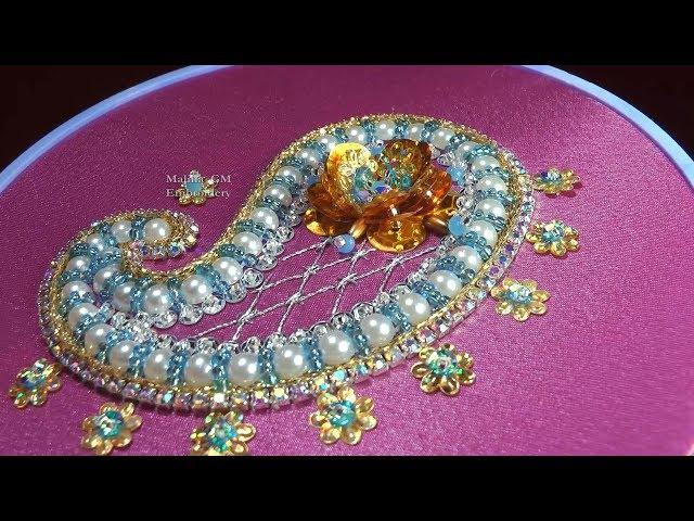 Embroidery Beadwork Paisley    Вышивка бисером Пейсли