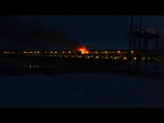 На Саратовской ГЭС произошло возгорание трансформатора