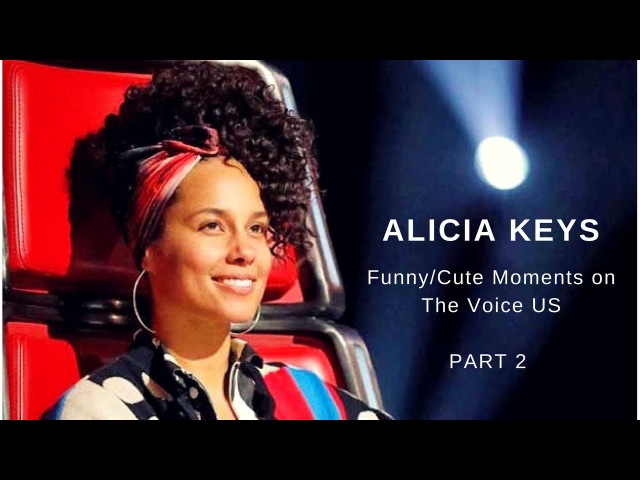 Alicia Keys   Funny/Cute moments on The Voice US   PART 2