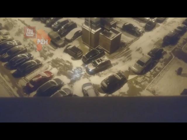 Автоледи на протаранила 12 авто в Подмосковье