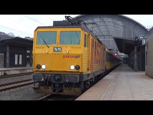 Vlaky Praha hlavní nádraží 13.1.2018