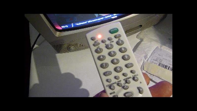 Как настроить универсальный телевизионный пульт TV 139F