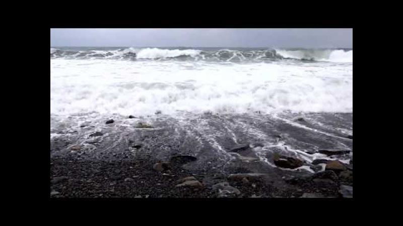 Футаж Шторм на море. Анапа, 21 марта