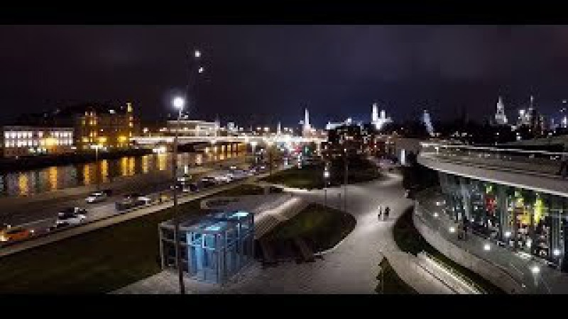 Сумасшедшие огни Москвы шикарная зона Зарядье Лучшие виды ночной Москвы