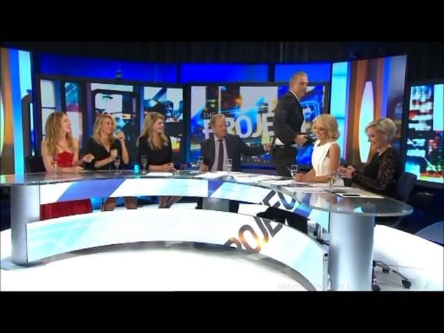 Kate Upton, Cameron Diaz Leslie Mann ogle Zac Efron Shirt-less Australian Tv