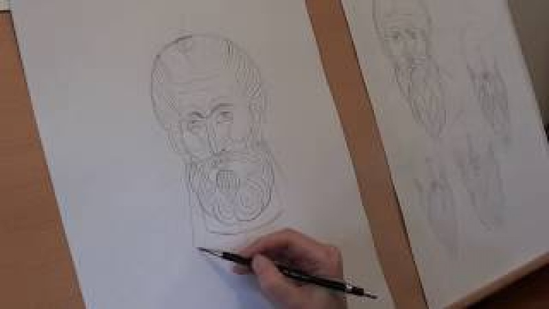 Preview of Patreon Iconography Tutorial 3: Drawing Ascetic Faces and Beards