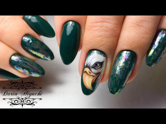Хищная Птичка на Ноготках! Дизайн Ногтей!