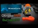 MinerGate Облако монеры XMR Март 2018