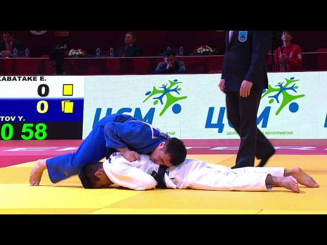 GS Ekaterinburg 2018, 60 kg, 1/4 finals, Eric Takabatake(BRA)-Yeldos Smetov(KAZ) vk.com/dzigoro_kano
