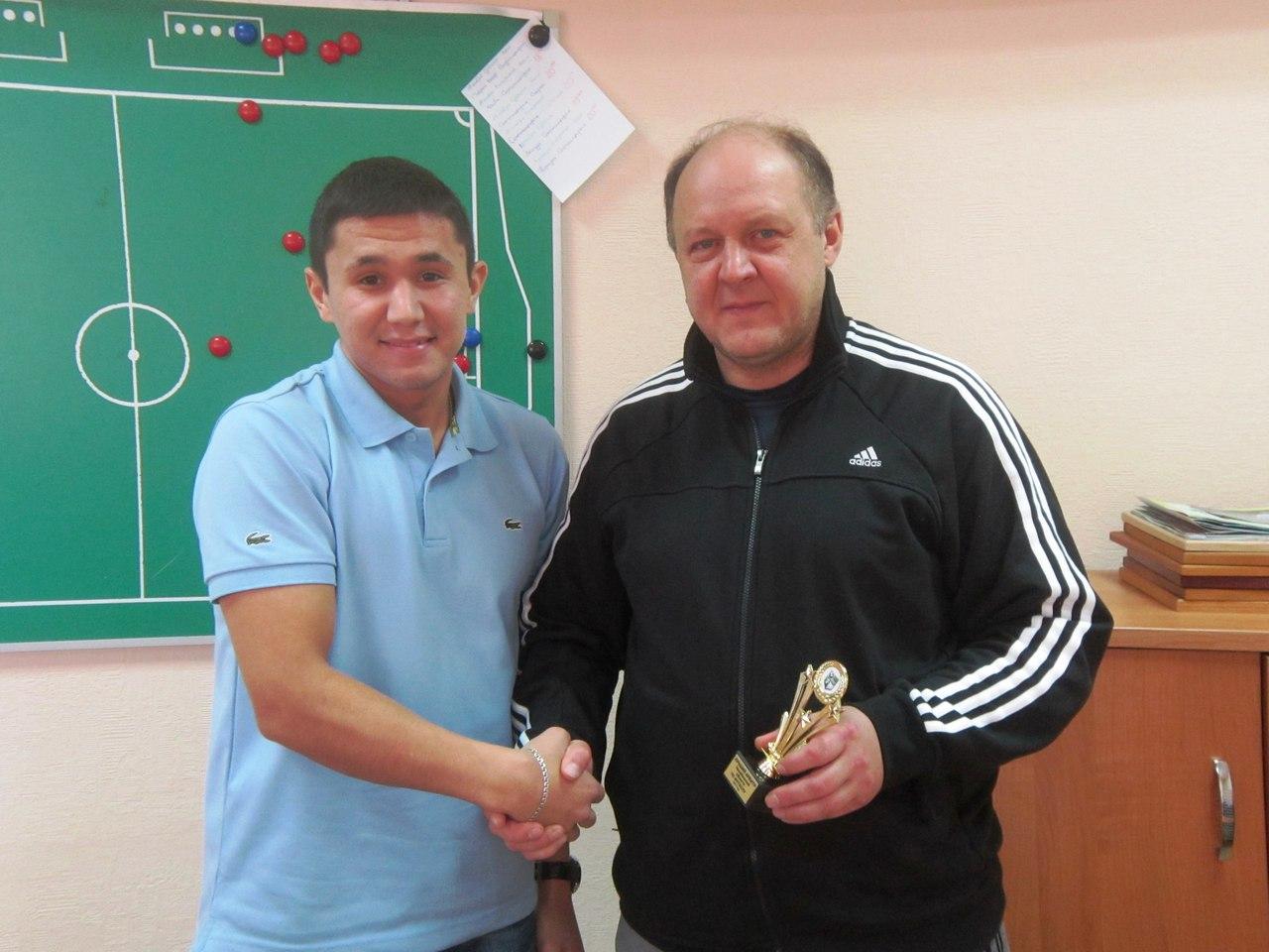 Награждение судьи Азамата Арсланова