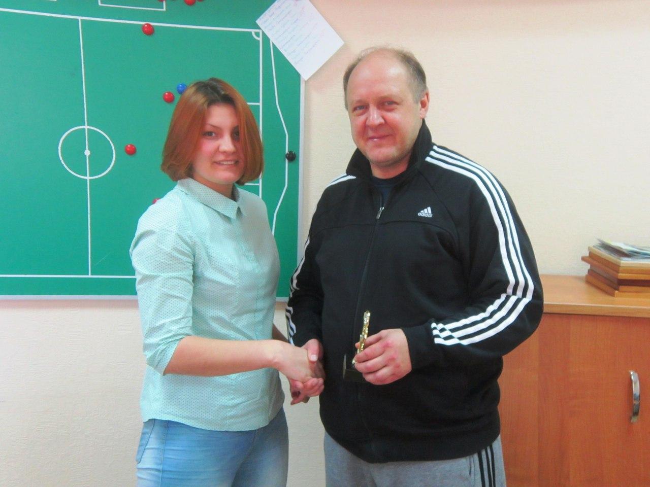 Награждение судьи Оксаны Залялютдиновой