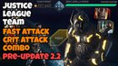 Injustice 2 Mobile | Justice League Team | Fast Attack and Crit Attack Combo | Tier 6 Raids