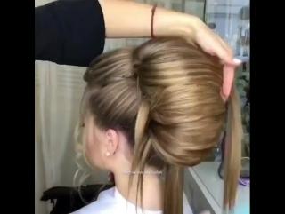 Шикарная ракушка из волос