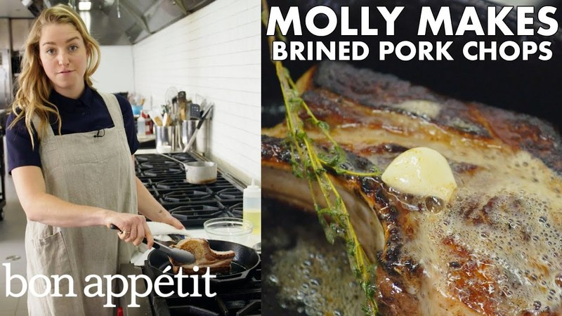 Molly Makes Pan-Roasted Brined Pork Chops   From the Test Kitchen   Bon Appétit