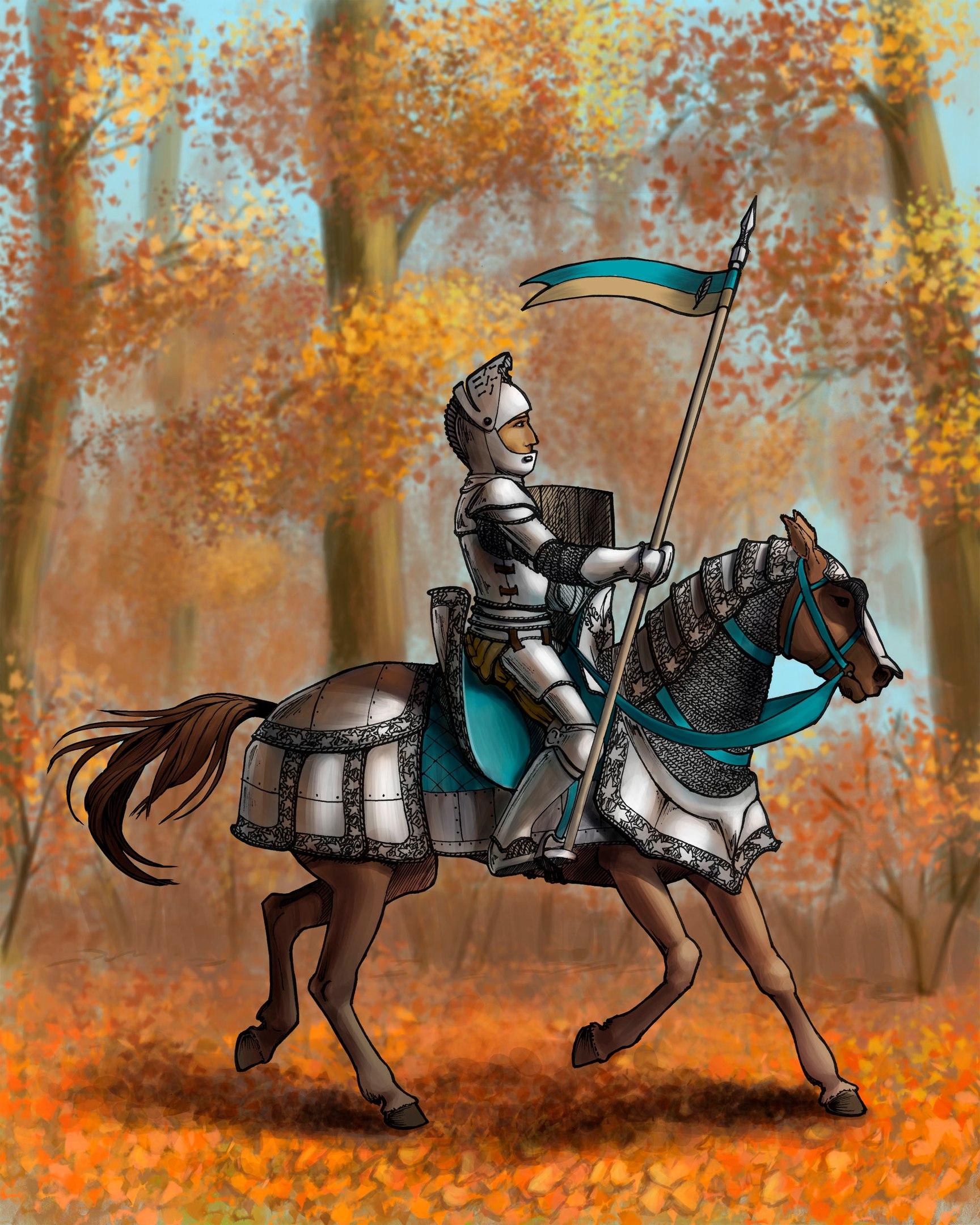 рыцари на лошадях картинки ухаживают