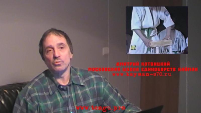 Дмитрий Котвицкий Показательные выступления То что людьми воспринимается на ура то что покажет Кёкушин во всей его красе смотреть онлайн без регистрации