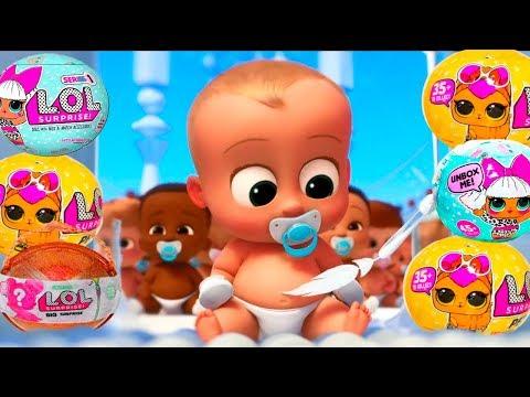 КРОШКА МАЛЫШ как БОСС молокосос 9 играет с куклами ЛОЛ Surprise мультик для детей ГАМИКС
