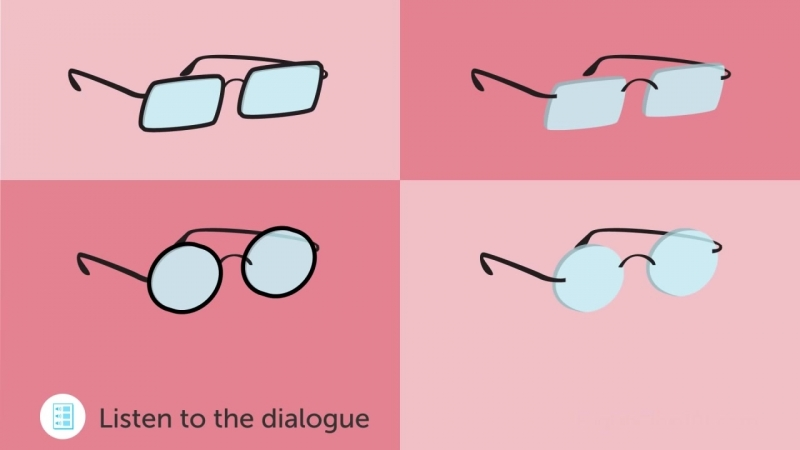 English Listening Comprehension - Choosing a Pair of Glasses in The U.S.A