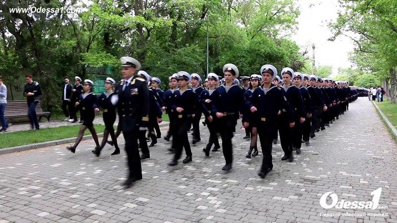 Odessa1.com - Марш курсантов ОНМА 9 мая 2018